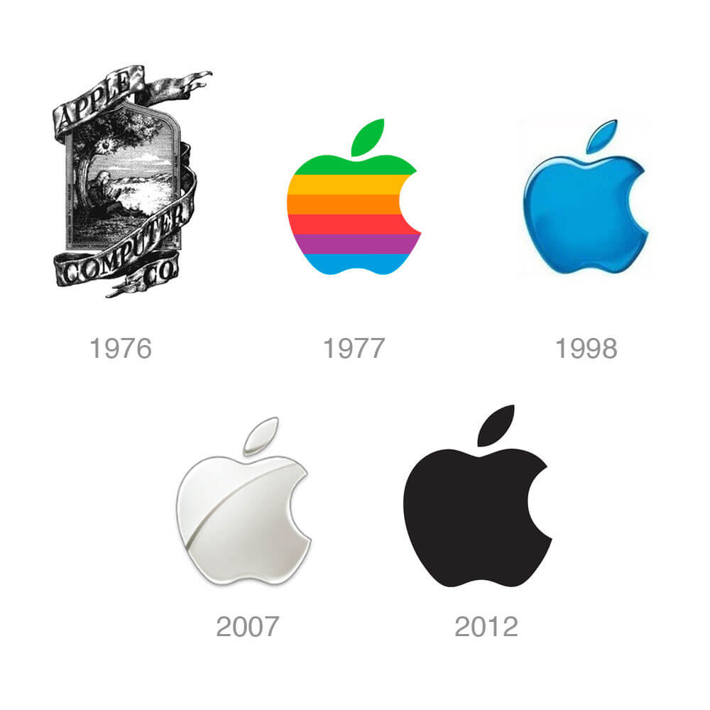 creación de logotipos, logos Apple
