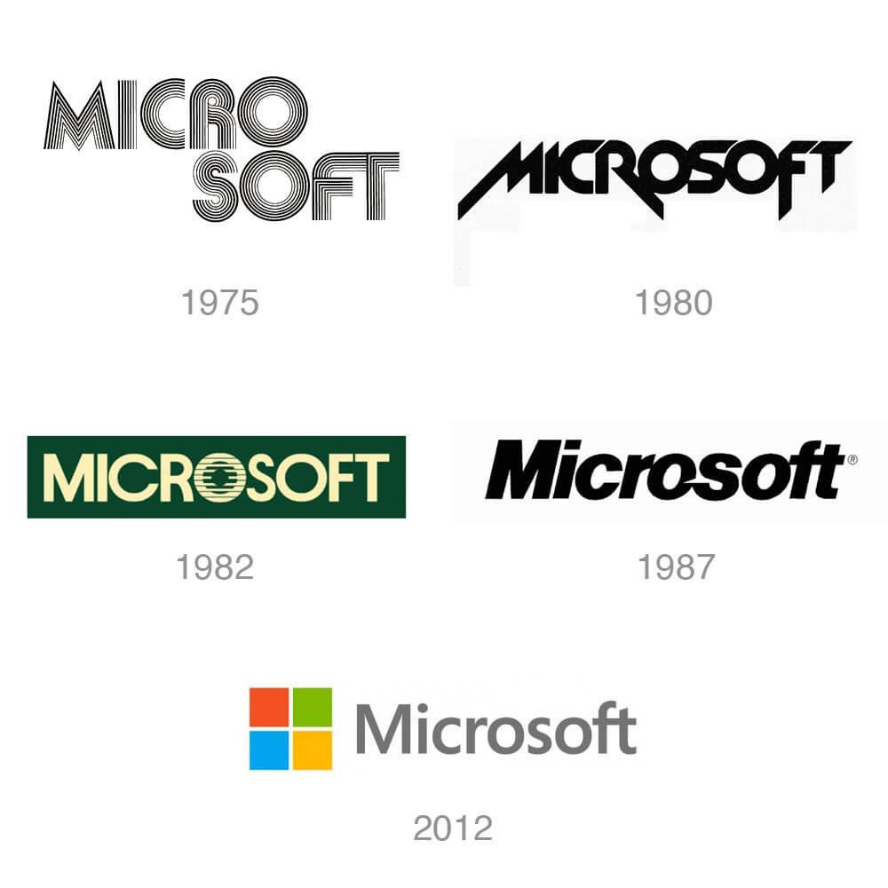 creación de logotipos, logos Microsoft